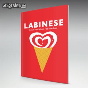 Labinese Abi Motto / Abizeitung Cover Entwurf von abigrafen.de®