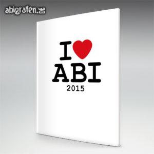 I love ABI Abi Motto / Abizeitung Cover Entwurf von abigrafen.de®