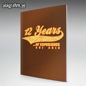 12 years of experience Abi Motto / Abizeitung Cover Entwurf von abigrafen.de®