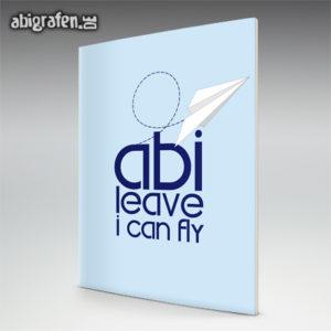 ABIlieve i can fly Abi Motto / Abizeitung Cover Entwurf von abigrafen.de®