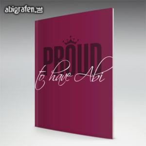 proud to have abi Abi Motto / Abizeitung Cover Entwurf von abigrafen.de®