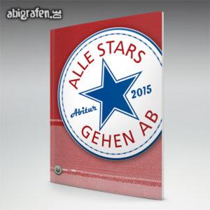 Alle Stars gehen ab Abi Motto / Abizeitung Cover Entwurf von abigrafen.de®