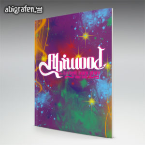 ABIwood Abi Motto / Abizeitung Cover Entwurf von abigrafen.de®