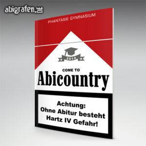 welcome to ABIcountry Abi Motto / Abizeitung Cover Entwurf von abigrafen.de®