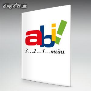 Abi 3 - 2 - 1 - meins! Abi Motto / Abizeitung Cover Entwurf von abigrafen.de®