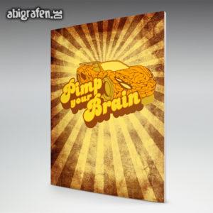 Pimp your Brain Abi Motto / Abizeitung Cover Entwurf von abigrafen.de®
