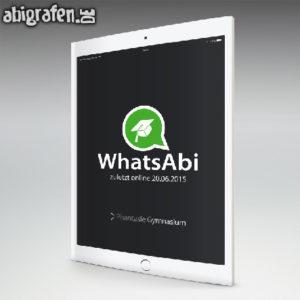 Whats ABI Abi Motto / Abizeitung Cover Entwurf von abigrafen.de®
