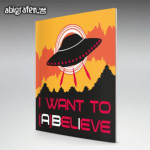 I WANT TO ABELIEVE Abi Motto / Abizeitung Cover Entwurf von abigrafen.de®