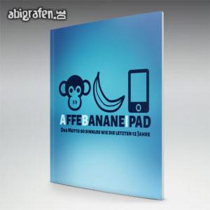 Affe Banane Ipad Abi Motto / Abizeitung Cover Entwurf von abigrafen.de®