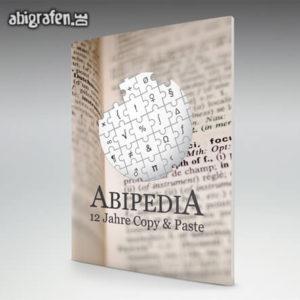 ABIpedia Abi Motto / Abizeitung Cover Entwurf von abigrafen.de®
