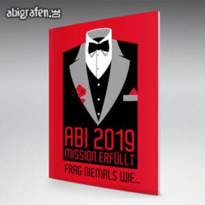 Mission erfüllt Abi Motto / Abizeitung Cover Entwurf von abigrafen.de®