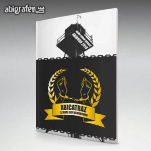 ABIcatraz Abi Motto / Abizeitung Cover Entwurf von abigrafen.de®