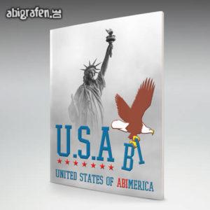 U.S.Abi Abi Motto / Abizeitung Cover Entwurf von abigrafen.de®