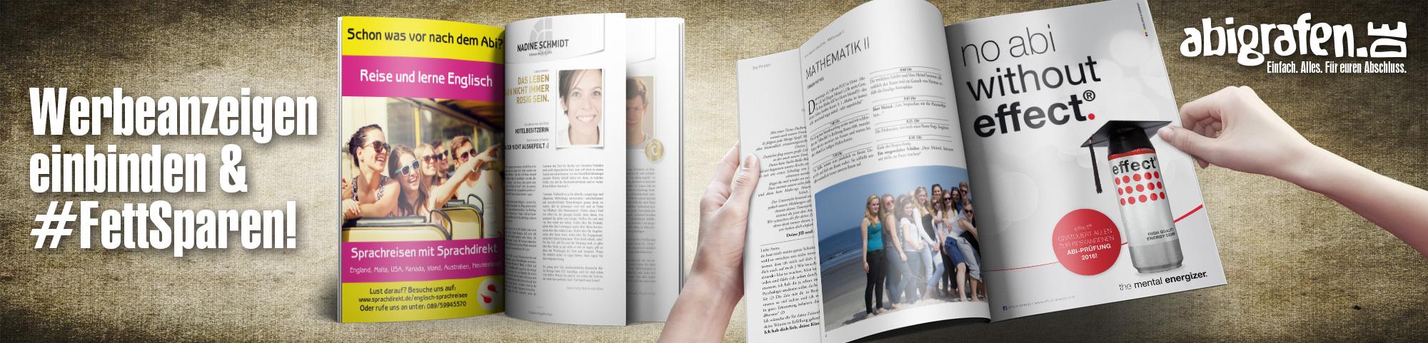 Werbeanzeigen für Abizeitungen- abigrafen.de®