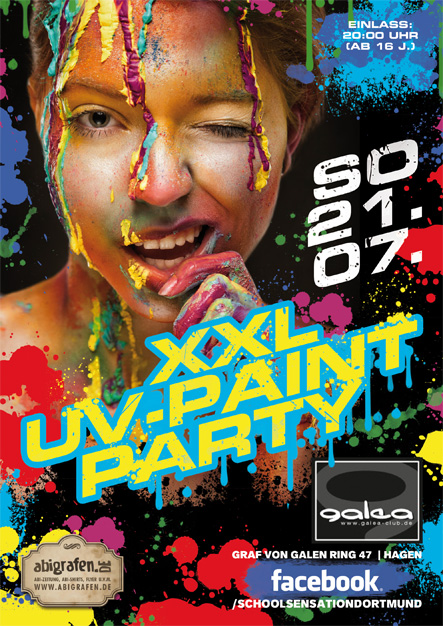 Schulparty Hagen: XXL UV Paint Party Hagen (Galea Club)