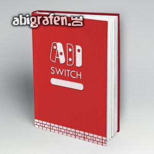 ABI SWITCH Abi Motto / Abibuch Cover Entwurf von abigrafen.de®