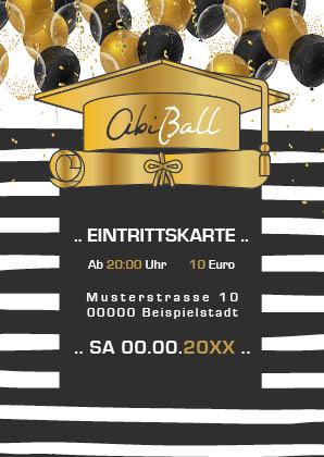 Eintrittskarten für den Abiball gestalten lassen (ID 15)