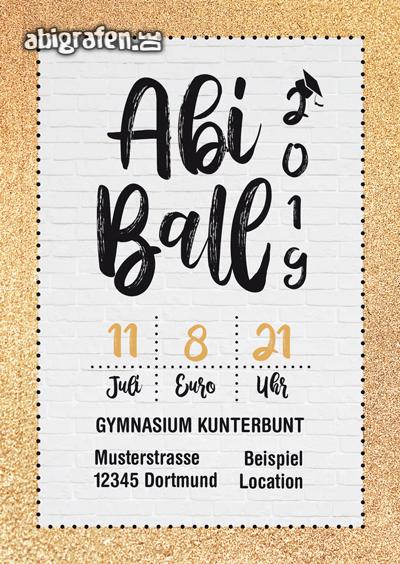 Eintrittskarten für den Abiball gestalten lassen (ID 13)