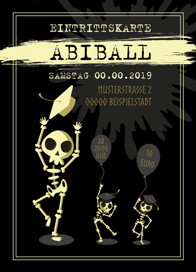 Eintrittskarten für den Abiball gestalten lassen (ID 14)