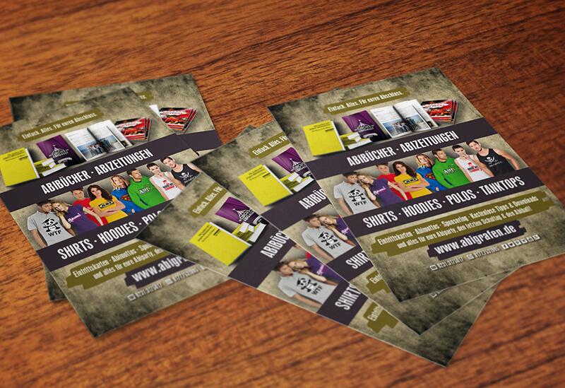 Abiball Eintrittskarten Design Werbung auf Abi Eintrittskarten Sponsoring