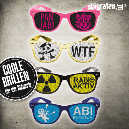 Ausstattung Abifeier Brillen