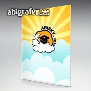 ABIsky Abi Motto / Abizeitung Cover Entwurf von abigrafen.de®