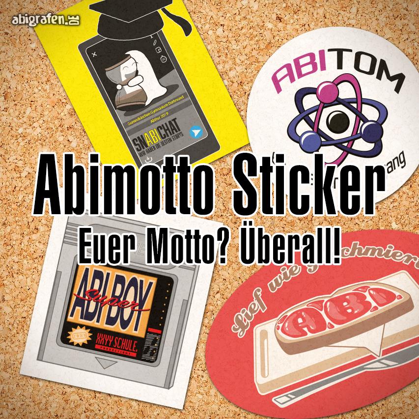 Abimotto Sticker: Euer Motto? Überall!