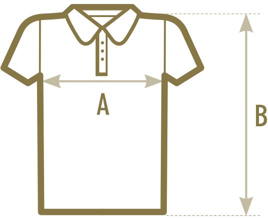 Abschluss Shirts bedrucken Polo-Shirt Maße