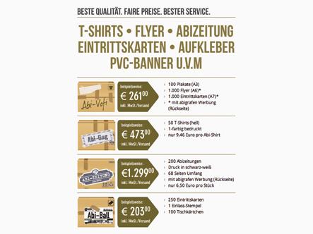 Angebote Abiparty, Abistreich, Abizeitung, Abiball