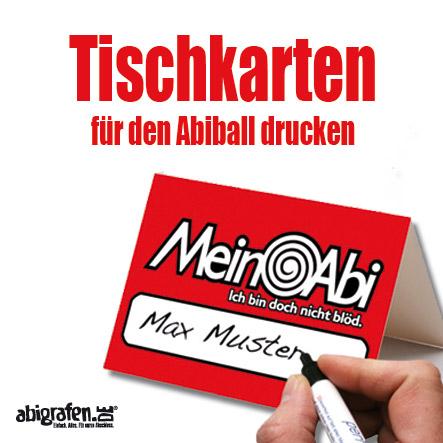 Abiball Tischkärtchen