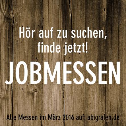 Karrieremesse / Berufsmesse / Jobmessen / Schuelermessen / Berufseinsteiger / Abiturienten / Berufswahl / Jobmessen im März 2016