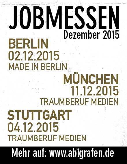 Karriere/ Berufsmesse / Jobmessen / Schuelermessen / Karrieremessen / Berufseinsteiger / Abiturienten / Berufswahl / Jobmessen im Dezember 2015