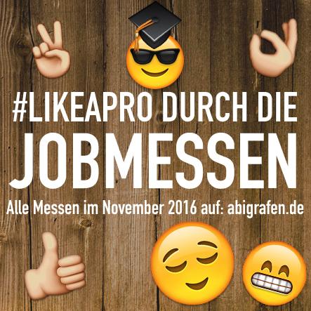 Karrieremesse / Berufsmesse / Jobmessen / Schuelermessen / Berufseinsteiger / Abiturienten / Berufswahl / Jobmessen im November 2016