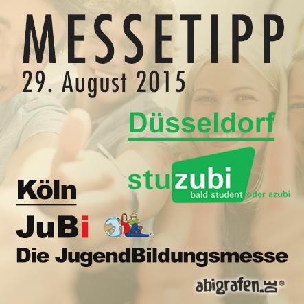 Karriere/ Berufsmesse / Jobmessen / Schuelermessen / Karrieremessen / Berufseinsteiger / Abiturienten / Jugendbildungsmesse - JuBi / Stuzubi - 29. August 2015