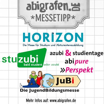 Jobmessen / Schuelermessen / Karrieremessen / Berufseinsteiger / Abiturienten - April