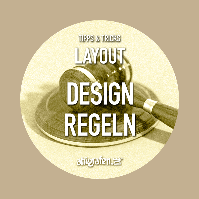 Abschlusszeitung Design Regeln