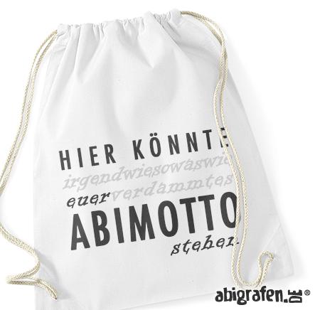 Turnbeutel mit Abimotto