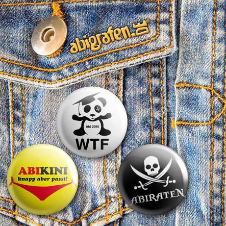 Buttons für die Abiparty