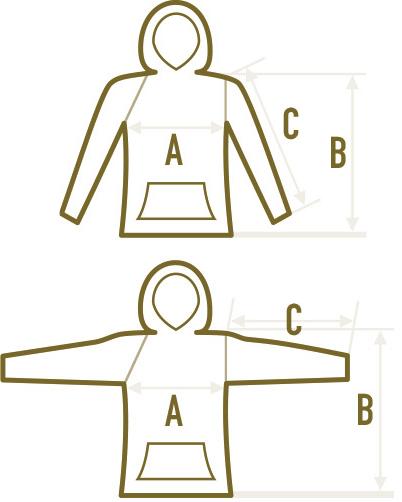 Größen/Maße: Pullover/Hoodie/Kapuzenpulli