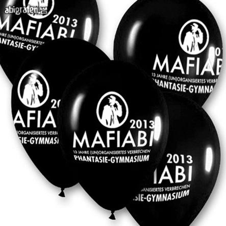 Luftballons mit Abisprüchen / Abimottos