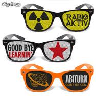 Sonnenbrille mit Abimotto bedrucken