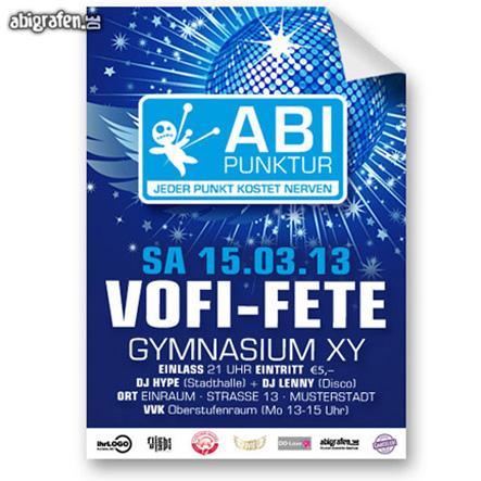 Plakat für die Abiparty