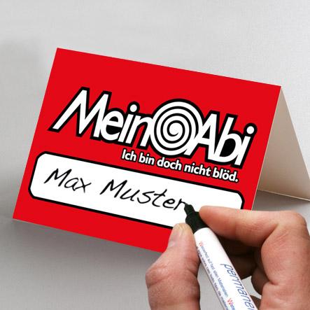 abigrafen.de - Namensschilder / Tischkarten Abiball