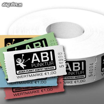 Abishop Wertmarken bedrucken mit Abimotto