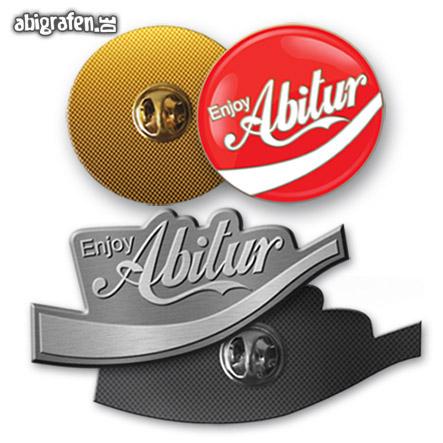 Pins/Anstecknadeln mit Abi Motto bedruckt oder geprägt für den Abiball