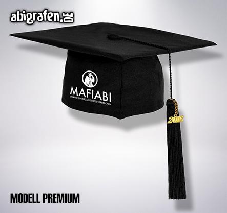 Doktorhut/Abschlusshut (premium) mit Abi Motto bedruckt für den Abiball