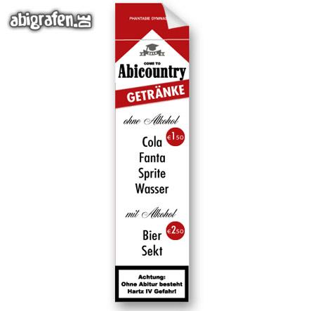 individuelle Getränkeposter für den Abiball (passend zum Abi Motto)