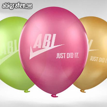 mit Abi Motto bedruckte Luftballons für den Abiball (gross)