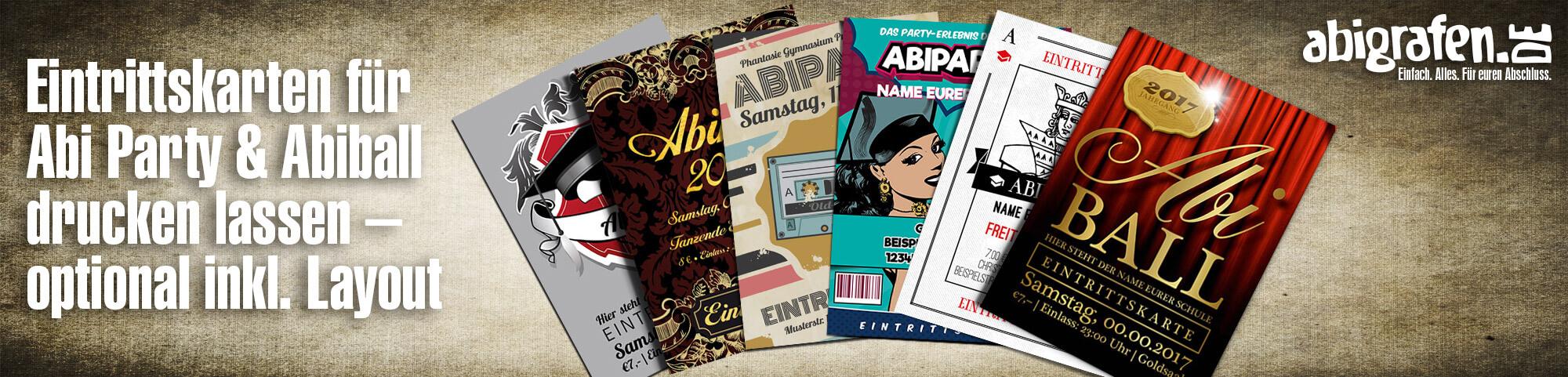 Abfeier/Abi Party/Abiball Eintrittskarten Design & Druck (mit Abriss/Nummerierung)