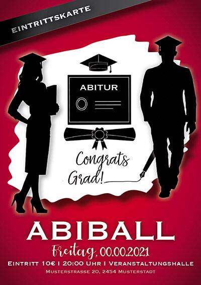 Eintrittskarten für den Abiball gestalten lassen (ID 16)